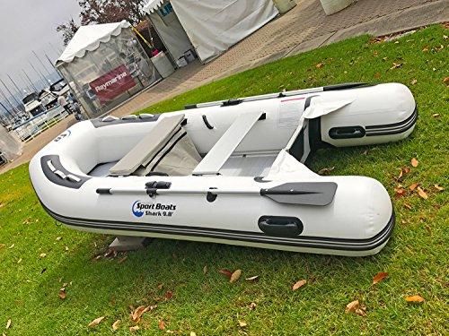 Inflatable Sport Boats Shark 9.8' - Model SB-300-2021 Model - Aluminum Floor Premium Heat Welded Dinghy with Seat Bag