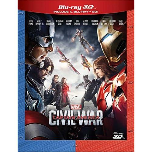 Captain America Civil War 3D (2 Blu-Ray);Captain America - Civil War