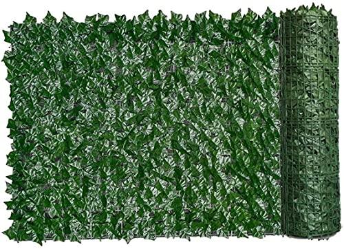 EIIDJFF Hecken Zaun Künstliche Garten Sichtschutz Pflanzenwand Efeu Zaun gefälschtes Gras dekorative Kulisse für den Schutz der Privatsphäre Home Balkon Garten Künstliche grüne Blatt Hecke