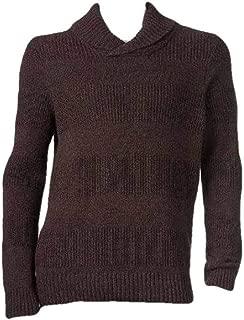 Apt 9 Men's Merlot Modern Fit Textured Shawl Collar Long Sleeve Sweater-Size S