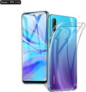 MDpace 【2019版TPUケースカバー 携帯電話モデルiPhone/Google/Sony/Asus/Huawei】超薄型 シリコン ケース 耐 衝撃カバー 擦り傷防止 軽量 ソフト クリア全透明 (TPU Case Huawei P30 Lite)