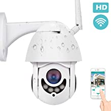 PTZ Smart Security Camera with Motion Detection, TOWODE Waterproof Home WiFi IP IR-Lens Wireless Camera 1080P CCTV Surveillance Cameras JPEG Snapshot Function Outdoor (Surveillance Cameras)