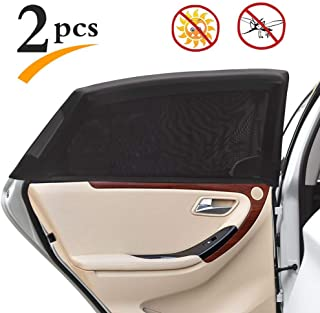 Uarter Universal Car Side Window Baby Kid Pet Breathable Sun Shade Mesh Backseat (2 Pcs) Fits Most Cars/SUVs