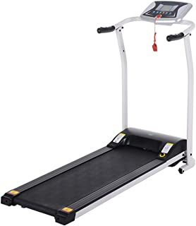 Tinfancy Folding Treadmill for Home Gym & Office with LCD Display Safe Key, and Heart-Rate Senso, Portable Electric Foldable Running Cardio Machine, Easy Assembly Walking/Runners Exercise Equipment