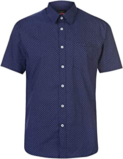 Pierre Cardin Mens Short Sleeve Shirt Check Stripe Plain