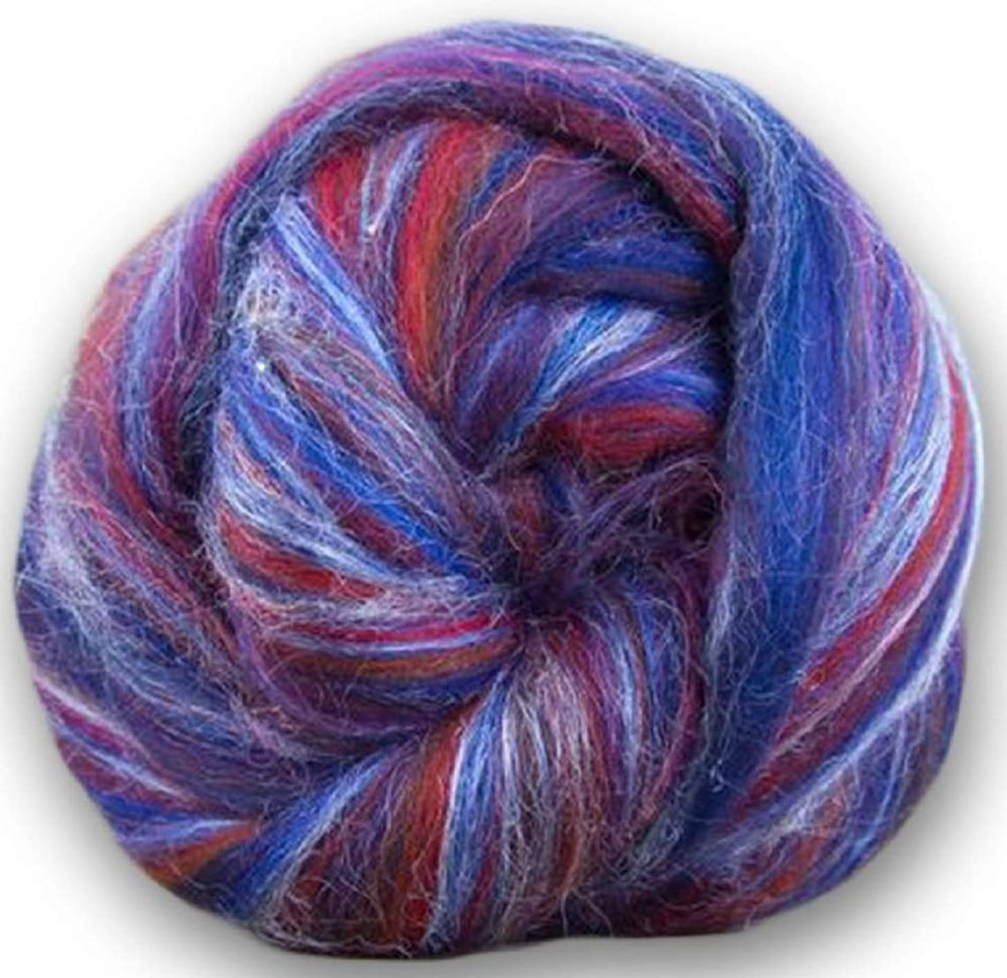 4 oz Paradise Fibers Soft & Silky Constellation Range Gemini - 70% 23 Micron Solid Color Merino Wool and 30% Bleached Tussah Silk Blend