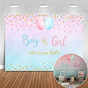 Amazon Com Aofoto 5x3ft Girl Or Boy Gender Reveal Backdrop Baby Shower Party Decoration Photography Background Boy Or Girl Banner Pregnancy Announcement Photo Studio Props Photobooth Wallpaper Camera Photo