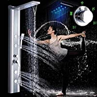ShiSyan シャワーシステム、 バスタブミキサークロームバスミキサーの壁には、二重の制御バスを搭載し、ミキサー シャワーヘッド セット 節水