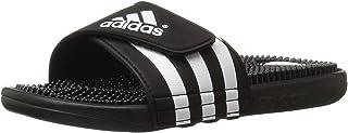 adidas  Men's Adissage Sandal,Run White/Graphite/Run White