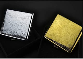 LBLMSB Copper Cigarette Case 20 Pack Personalized Creative Gifts Moisture-Proof and Pressure-Proof Metal Cigarette Case, Ideal Smokers, Multi-Color Optional, (Color : Gold)