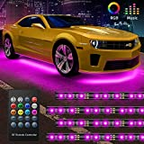 Govee Car Underglow LED Lights, Exterior Car Lights with 8 Colors Sync to Music, 4 PCS Neon Accent Car Light...