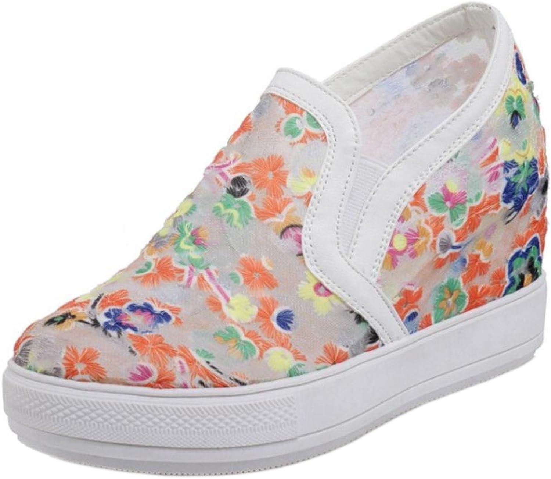 KemeKiss Women Fashion Sneakers Wedge Heel
