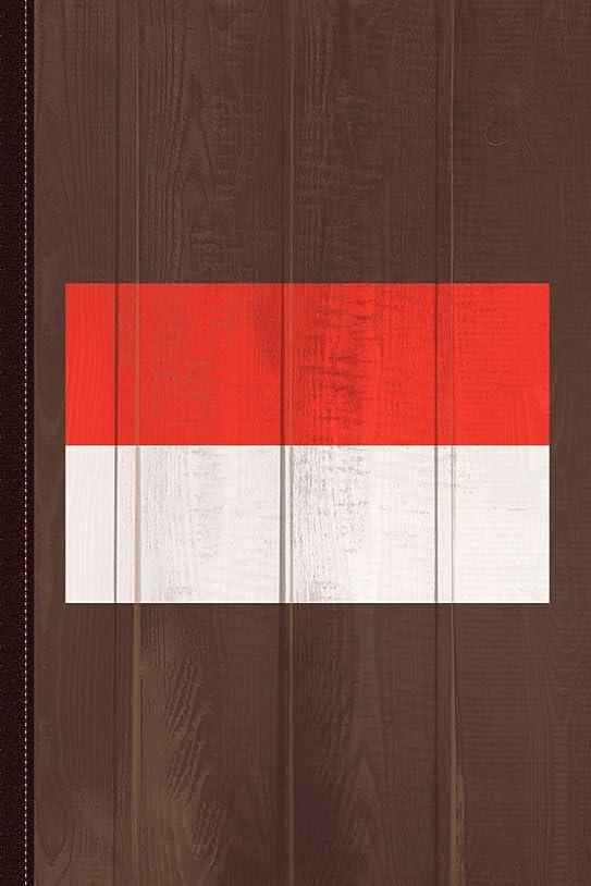 剛性神のマキシムIndonesia Flag Journal Notebook: Blank Lined Ruled For Writing 6x9 110 Pages