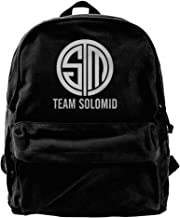 Canvas Backpack, Team Solomid TSM League Of Legends Casual Computer School Bag Daypack For Travel, Hiking, Camping
