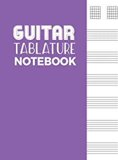 Guitar Tablature Notebook: 5 Blank Chord Diagrams Seven 6-Line Staves - Blank Music Journal for Guitar Players and Musicians