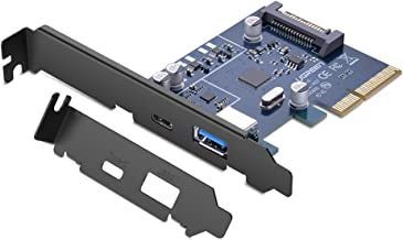 UGREEN PCI-E Card Express USB 3.0 A and USB Type C 3.1 Gen 2 Expansion Card Asmedia Chipset for Computer Desktop PC 10Gbps