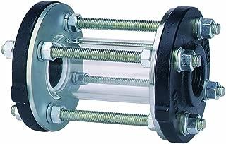 Dwyer MIDWEST Series SFI-400 Sight Flow Indicator, Tube Type, Borosilicate Tube, PTFE Gaskets, 1-1/4