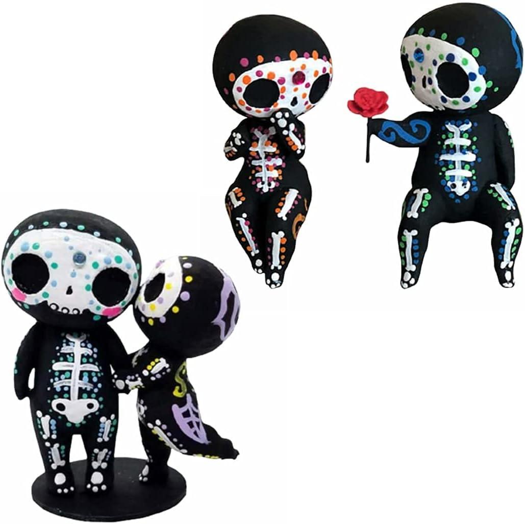 Cute Sugar Indefinitely Skull Max 83% OFF Couple Figurine Statue Decoration Craf Skeleton