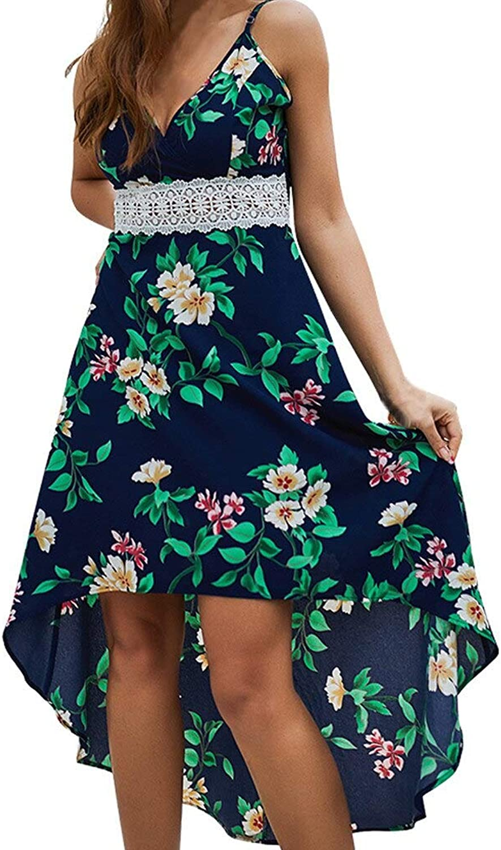 HKDQZ Fashion Dress Summer le Dress Sleeveless V-neck Dress