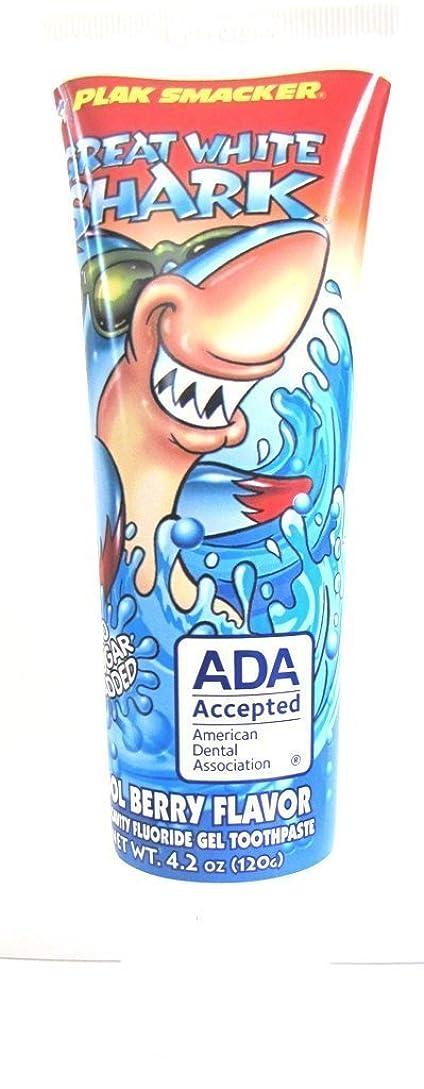 くすぐったい数十分にGreat White Shark Cool Berry Flavor Toothpaste 4.2oz by Plak Smacker