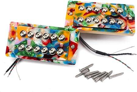 KESOTO カラフル エレキギター ハムバッカー ネックブリッジ ピックアップ ネジキット