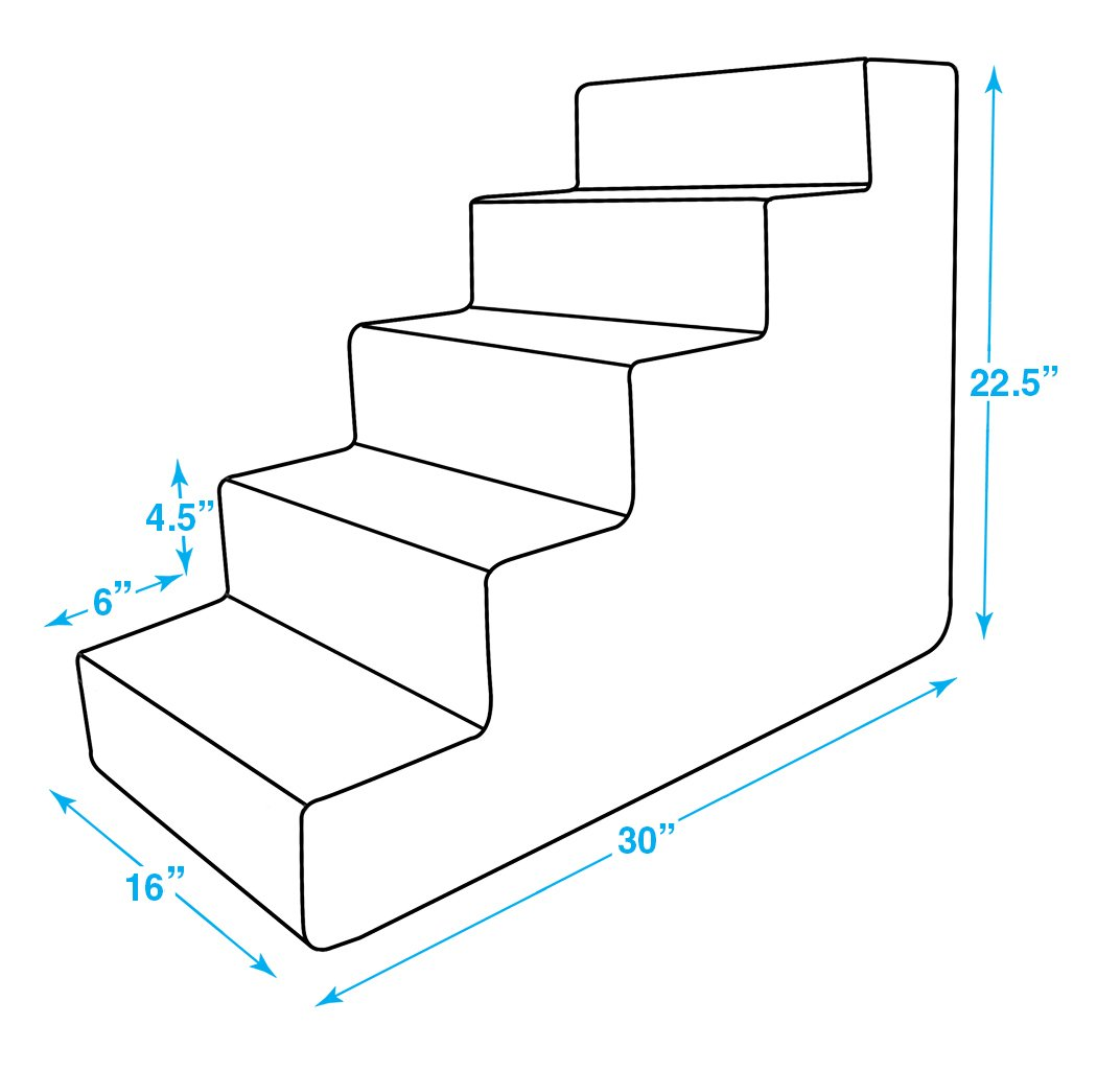 Best Pet Supplies Pet Steps and Stairs with CertiPUR-US Certified Foam for Dogs and Cats
