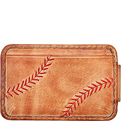 Rawlings Baseball Stitch Front Pocket Wallet (Tan)