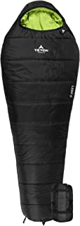 TETON Sports LEEF Lightweight Mummy Sleeping Bag; Great for Hiking, Backpacking and Camping; Free Compression Sack