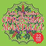 CHRISTMAS MANDALA Color By Number - 3D Mosaic Color By Number Book for Adults Relaxation and Stress Relief