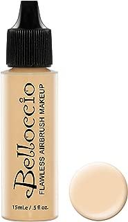 Belloccio's Professional Cosmetic Airbrush Makeup Foundation 1/2oz Bottle: Buff- Light with Golden Undertones