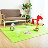 Fenfen PE Mat Puzzle Mosaic Crawler Mat Dormitorio para niños Tatami Floor Mat 6 / Bolsa, Azul/Verde/Amarillo/Rojo/Powder/m/Brown, 60x60 * 1.2cm (Color : Green)