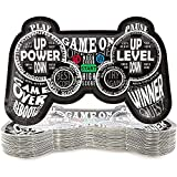 Video Game Controller Plates for Birthday Party (11 x 7 In, 48-Pack)