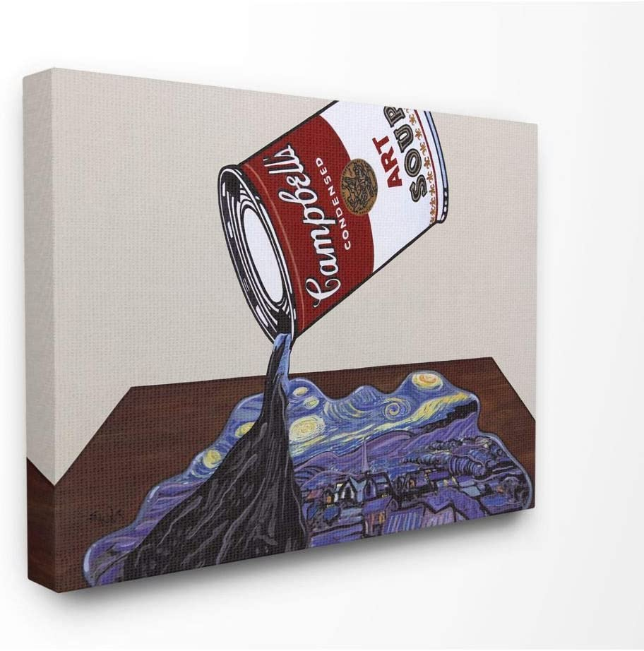 Stupell Industries Genuine trend rank Soup Van Gogh Parody Warhol Andy Desi Modern