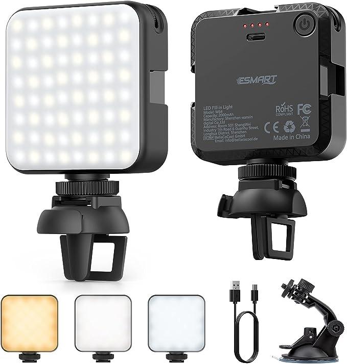64 opinioni per ESMART Luce Fotografica Dimmerabile con 64 LED,Luce per Selfie 3 Modalità da