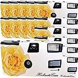 15 x Photo Porst Boda Cámara/cámara desechable Crema Amarillas de Bodas Rose (Instrucciones en alemán, con Flash luz y Pilas, por 27 Fotos, ISO 400 Fuji)