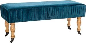 Atmosphera–Banqueta para Terciopelo Azul la Dolce Vita, Bleu Canard, cm