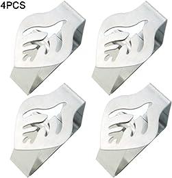 Lot de 4 ou 6 pinces à nappe décoratives en acier