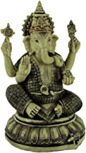 Zeckos Lord Ganesha On Lotus Flower Statue