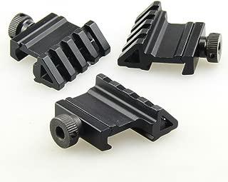 TACFUN 3 PCS Tactical 45 Degree Angle Offset 20mm Weaver Rail Mount Picatinny 4 Slot