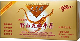 Prince of Peace® Wild American Ginseng Instant Tea (100 Sachets)