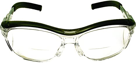 3M Nuvo Reader Protective Eyewear, 11434-00000-20 Clear Lens, Gray Frame, +1.5 Diopter (Pack of 1)