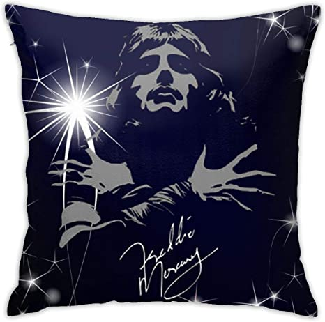 Amazon Com Mznk6428adnx Unisex Freddie Mercury Queen Band Pillow 18inch18inch One Size Home Kitchen