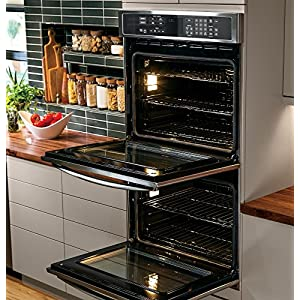 """GE PT9550SFSS Profile 30"""" Stainless Steel Electric Double Wall Oven - Convection"""