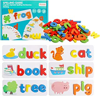 HOONEW See and Spelling Learning Toy, Matching Letter...