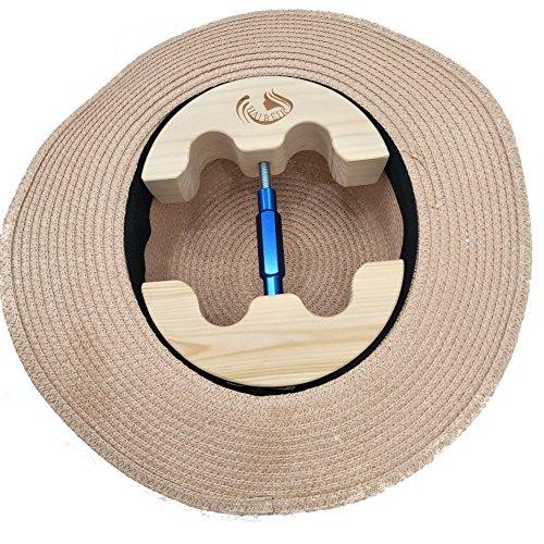 Haibeir Hut-Stretcher, Hut-Dehner, verstellbar, robust, einfach zu verwenden, Größen: 16,5 cm bis 24,1 cm blau