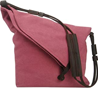 Youlee Segeltuch Schultertaschen Kuriertaschen Reisetaschen Einkaufstüten Rose Red