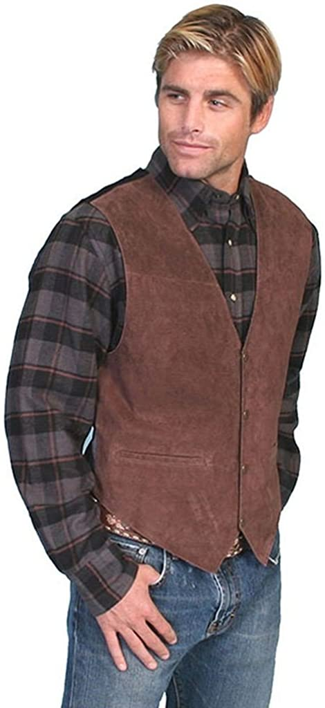 Scully mens Suede Leather Western at  Men's Clothing store