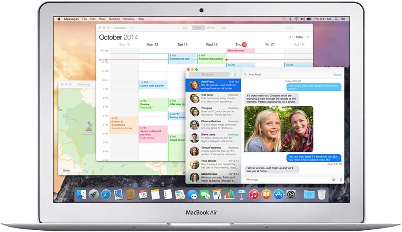 Apple MacBook Air MJVE2LL/A Intel Core i5-5250U X2 1.6GHz 4GB 256GB, Silver (Renewed)