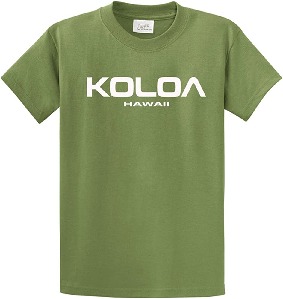Joe's USA Koloa/Hawaii Text Logo T-Shirts in Size 4X-Large Tall -4XLT
