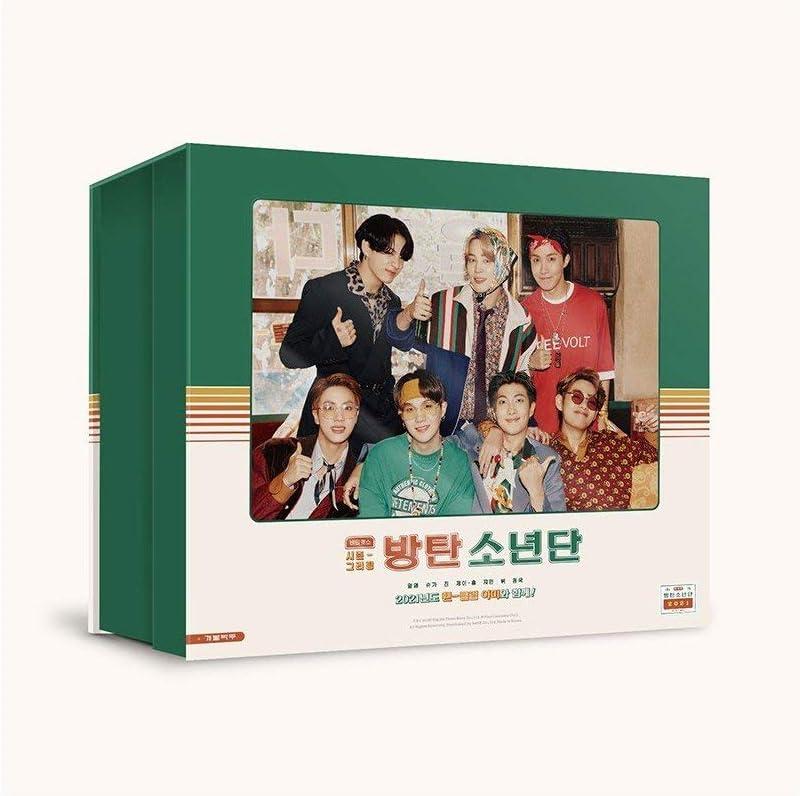 San Jose Mall BTS 2021 Season's Greetings Calendar+10 Elegant Poster+Desk DVD+13p Mini